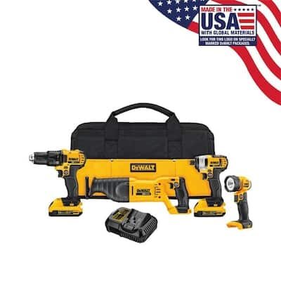 *YMMV* DEWALT 4-Tool 20-Volt Max Power Tool Combo Kit w/Case (In-store only) *YMMV* $149.5