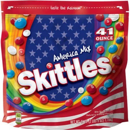 Skittles America Mix Candy Bag, 41 ounce WALMART instore only $1.37