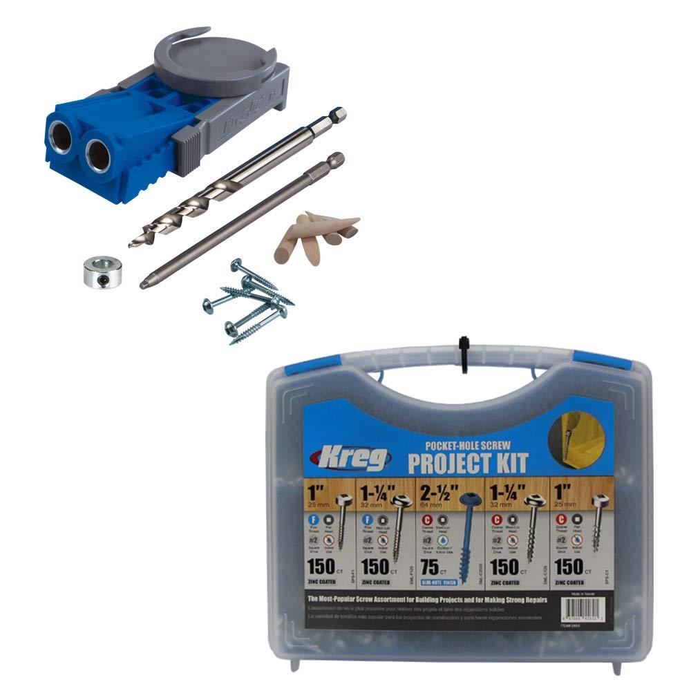 Kreg R3 Jr. Pocket Hole Jig System with SK03 Pocket-Hole Screw Kit in 5 Sizes $42.77