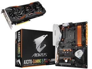 GIGABYTE GeForce GTX 1070 DirectX 12 GV-N1070G1 + GIGABYTE GA-AX370 Motherboard $650