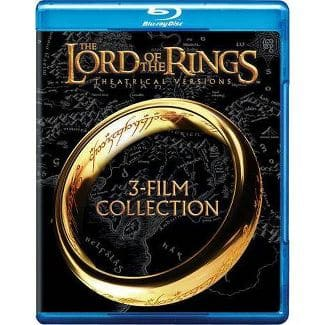 LOTR Trilogy Theatrical Version on Blu-ray $10.99 at Target