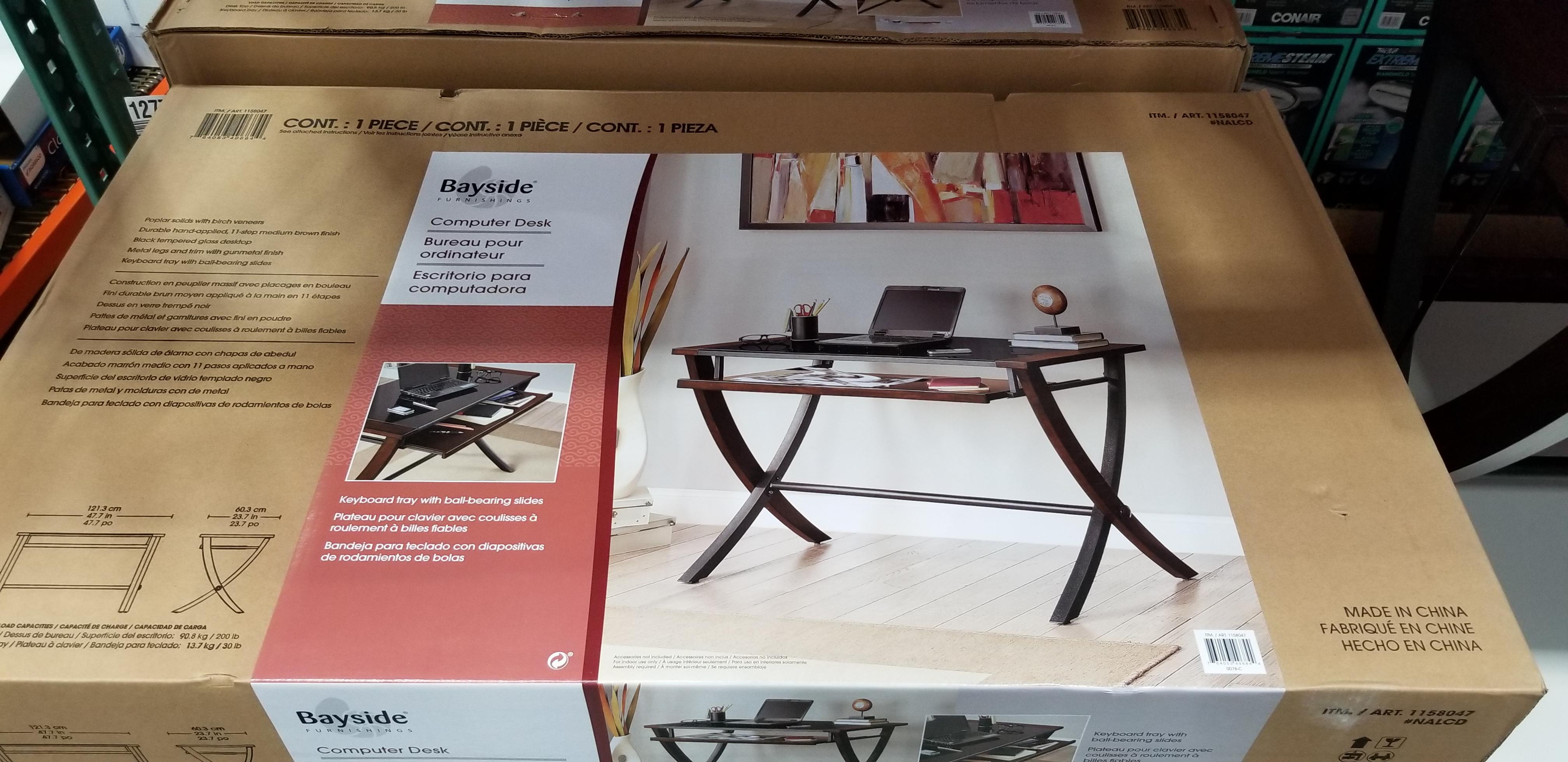 Costco Members Bayside Furnishings Desk 49 97 B M Ymmv