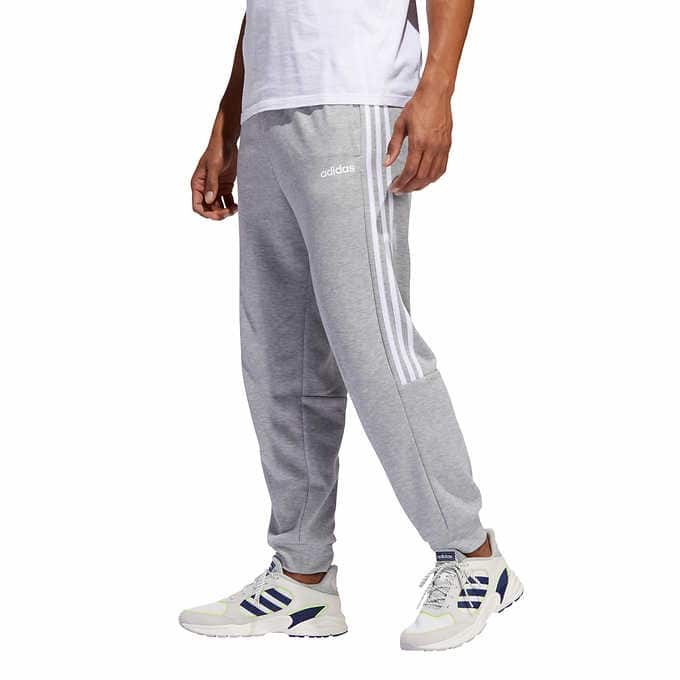 Costco adidas Men's French Terry Jogger (Black/Navy/Gray)