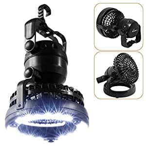 2IN1 Portable LED Camping Lantern with Ceiling Fan 18 LED Flashlight Ceiling Fan $9.99