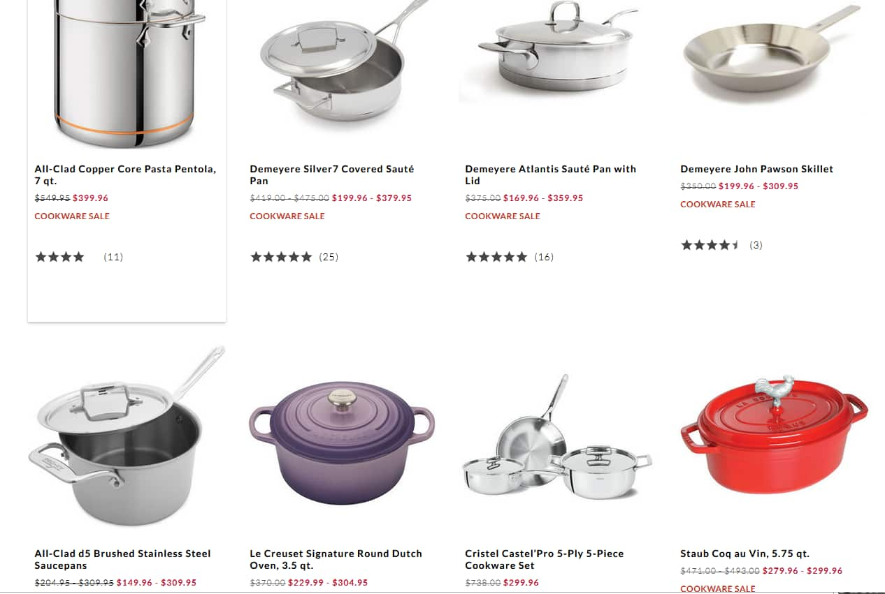 Sur La Table cookware liquidation - up to 65% off All-Clad, Staub, etc.