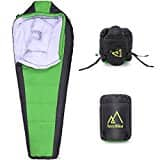 AMAZON - Mummy Sleeping Bag with Compression Sack for Traveling / Hiking, w/ Free Kids Mittens & Womens Gloves $27.99