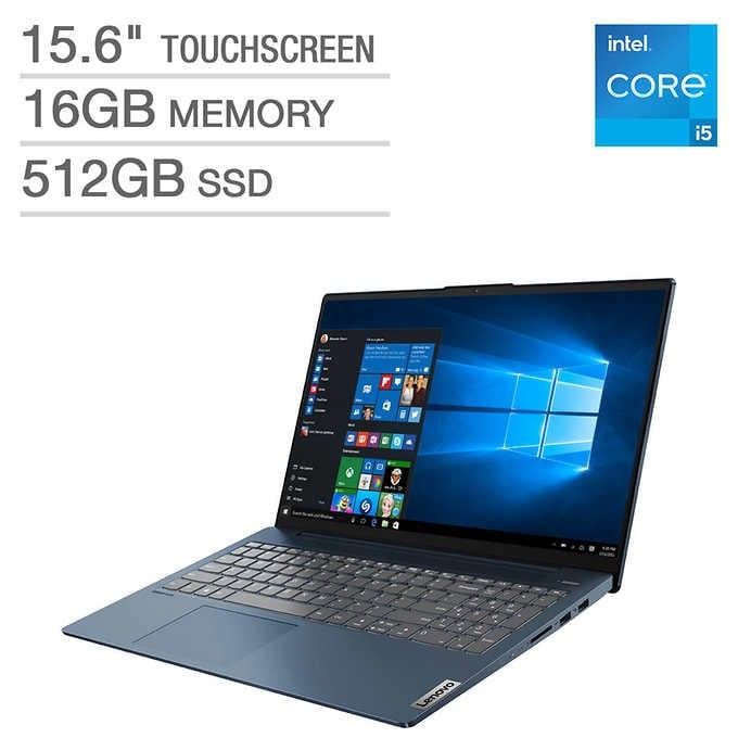 "Lenovo IdeaPad 5 15.6"" Touchscreen Laptop - 11th Gen Intel Core i5-1135G7- 1080p - Abyss Blue - $660 Shipped"