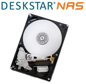 """HGST DeskStar NAS 3.5"""" 4TB 7200 RPM 128MB Cache SATA 6.0Gb/s High-Performance Hard Drive for Desktop NAS Systems Retail Packaging for $129.99"""