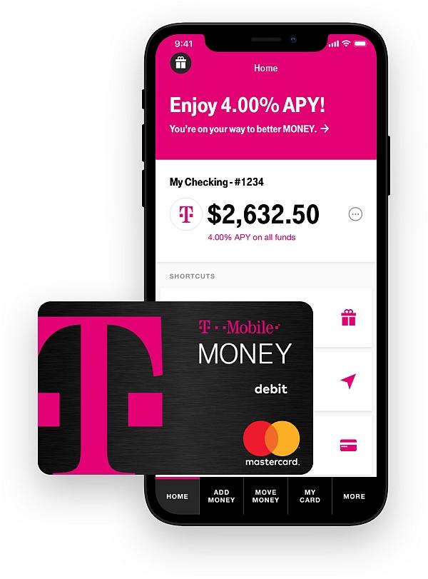 T‑Mobile MONEY - 1.00% on all balances to 4.00% APY on $3k balance