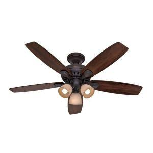 "Home Depot Hunter Highbury 52"" New Bronze Ceiling Fan $89.97 only with special link, otherwise $129.00 - Both with free shipping or free in store pick up"