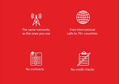 Red Pocket Mobile 100 minutes/100 texts/500 Mb data per month. $4.59 per mo. (I.E. $54.99 for 360 days)