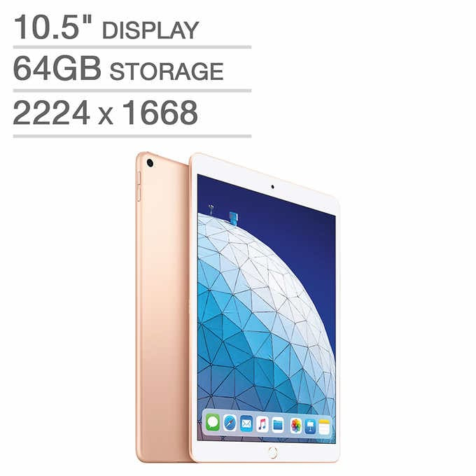 iPad Air (2019) 64 GB models on sale at Costco members for $399.99, iPad Pro 256 GB on sale at 999.99