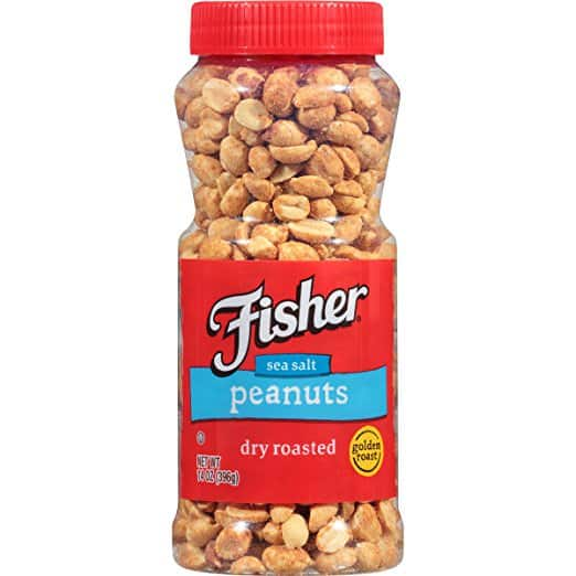 Fisher Dry Roast Peanuts, 14 ounces, $1.98 after coupon, free prime shipping
