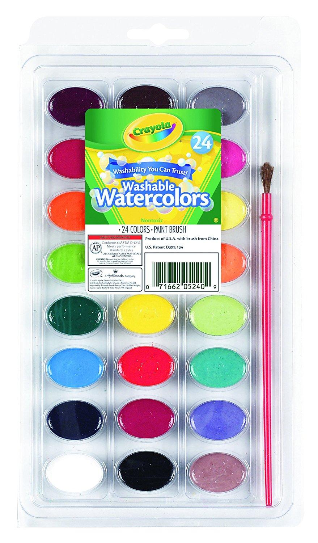 Add-on item: Crayola 24 Ct Washable Watercolors, $1.95, FS w/Alexa