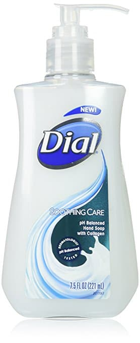 Dial Liquid Hand Soap, Soothing Care, 7.5 Fluid Ounces, 12 Count, $9.42 prime FS