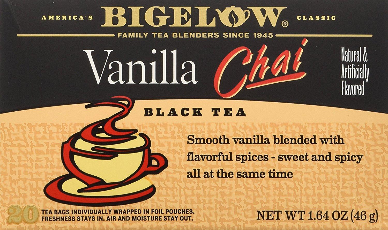 Add-on: Bigelow Tea Chai Vanilla 20Bg 1.64 oz (pack of 3), $2.98