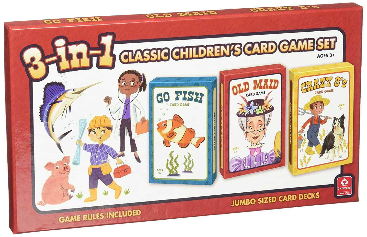 add-on item: Cartamundi USA 3-in-1 Classic Children's Card Game Set, $2.60