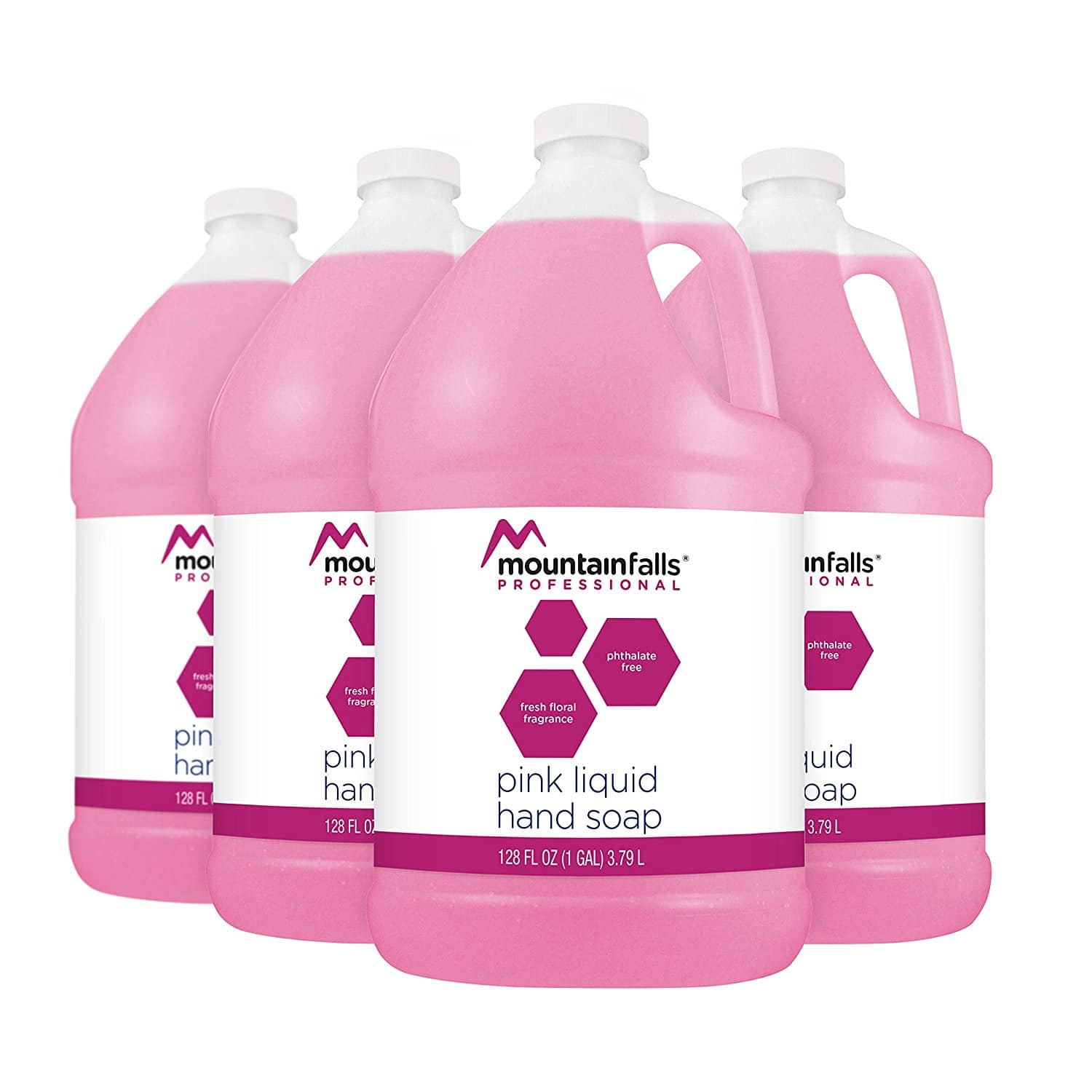 Mountain Falls Professional Pink Liquid Hand Soap Refill, 128 Fluid Ounce (Pack of 4), $11.63, free prime shipping