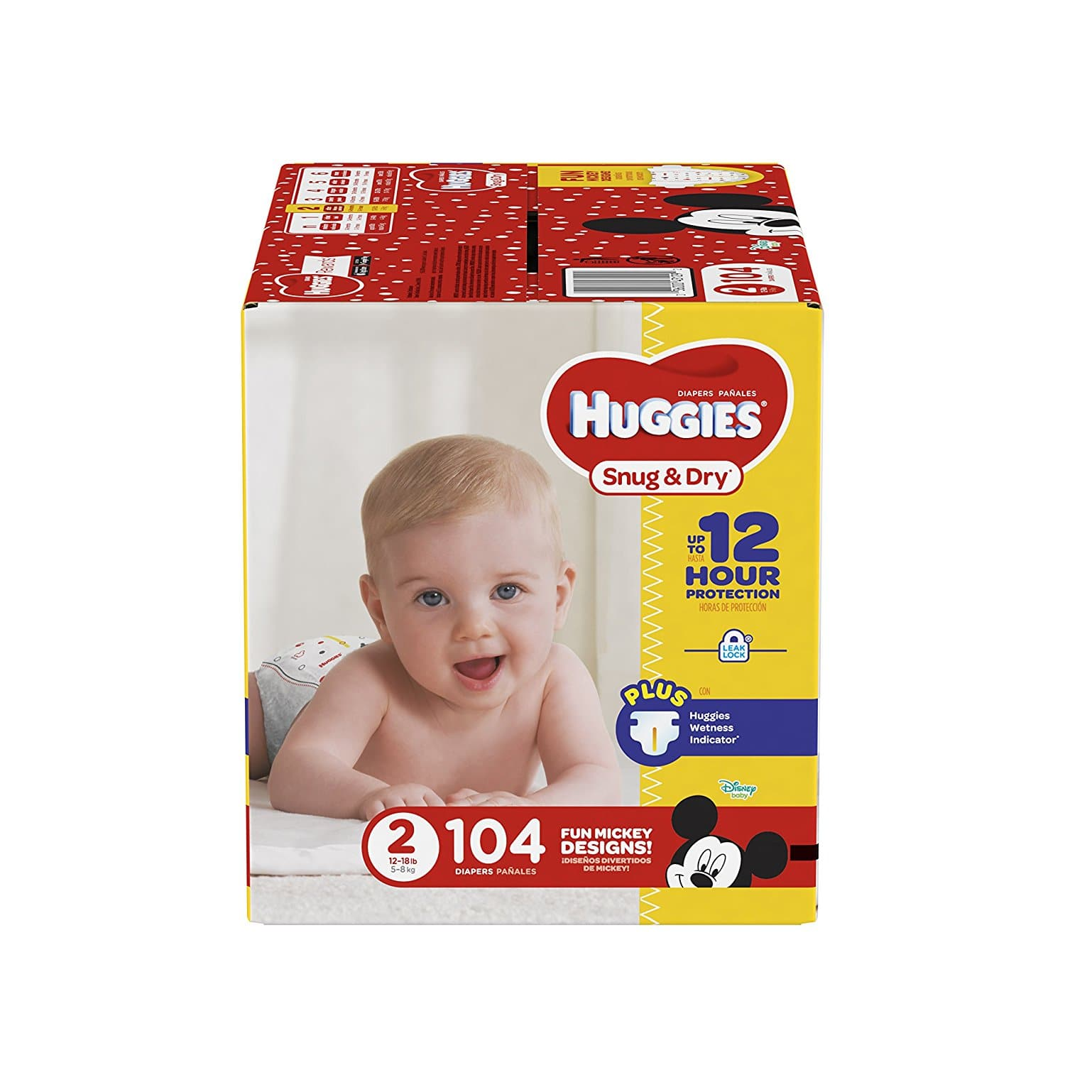 HUGGIES Snug & Dry Diapers, Size 1, 112 Count, BIG PACK, $15.51, as low as $12.41 w/max SS.