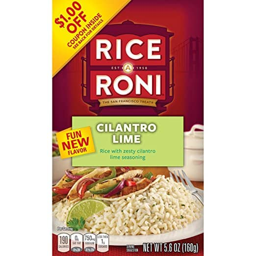 Rice a Roni, Long Grain and Wild Rice Mix OR Cliantro Lime (Pack of 12 Boxes), $9 AC or less w/ss