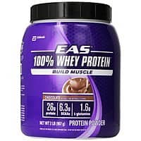 Amazon Deal: 2lbs. EAS 100% Whey Protein (Chocolate or Vanilla) $14.99 or less + Free Shipping