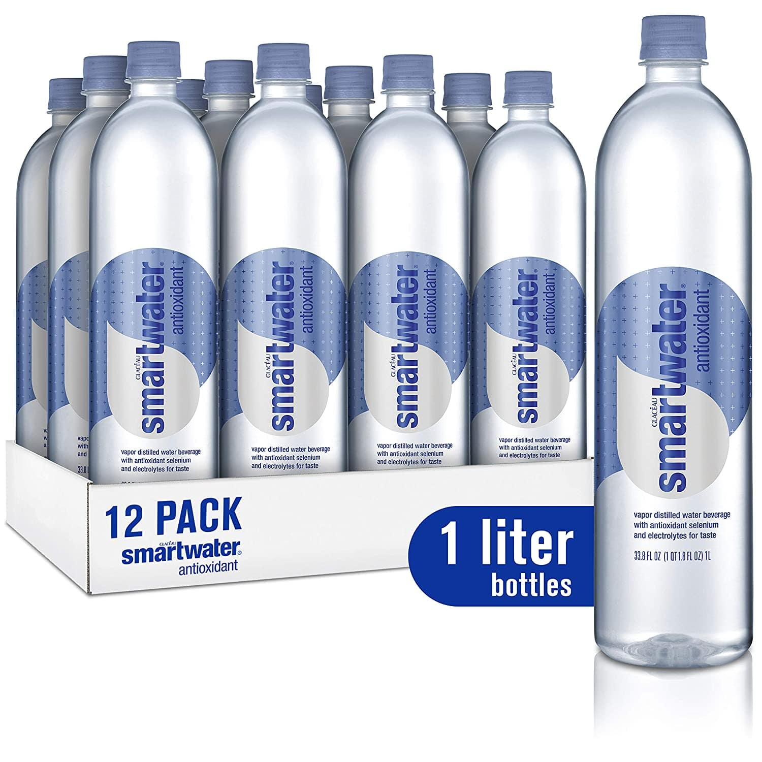 Amazon: Smartwater Antioxidant, 33.8 Fl Oz Bottles, Pack of 12 for $15.00 + $1.20 Bottle Fees. Free Shipping on Orders $25+