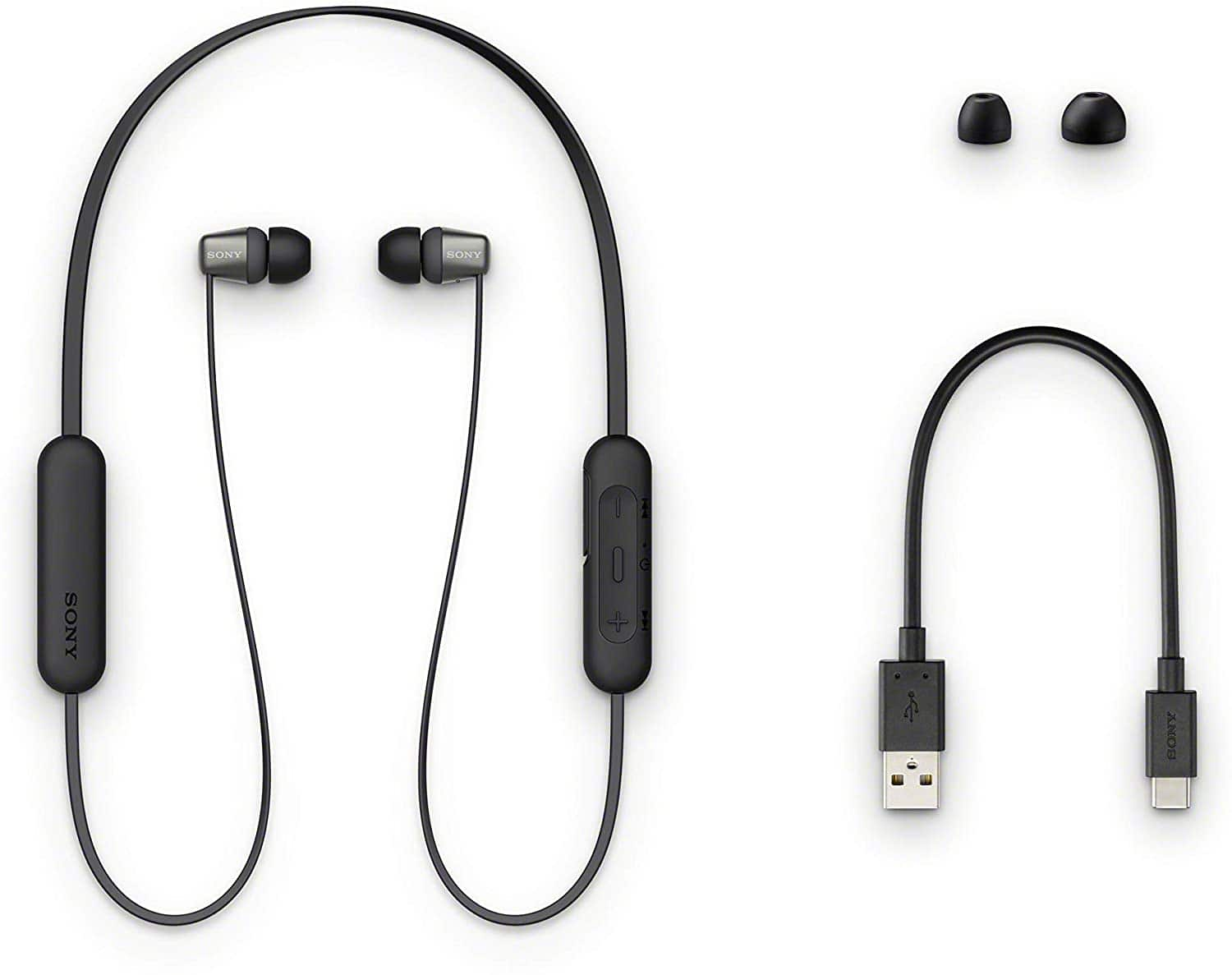Sony Wireless in-Ear Headset/Headphones with Mic for Phone Call (WI-C310/All Colors) $18