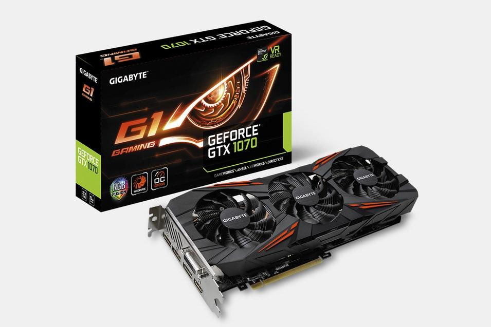 Gigabyte GeForce GTX 1070 G1 Gaming 8G (Rev. 2.0) $399.99