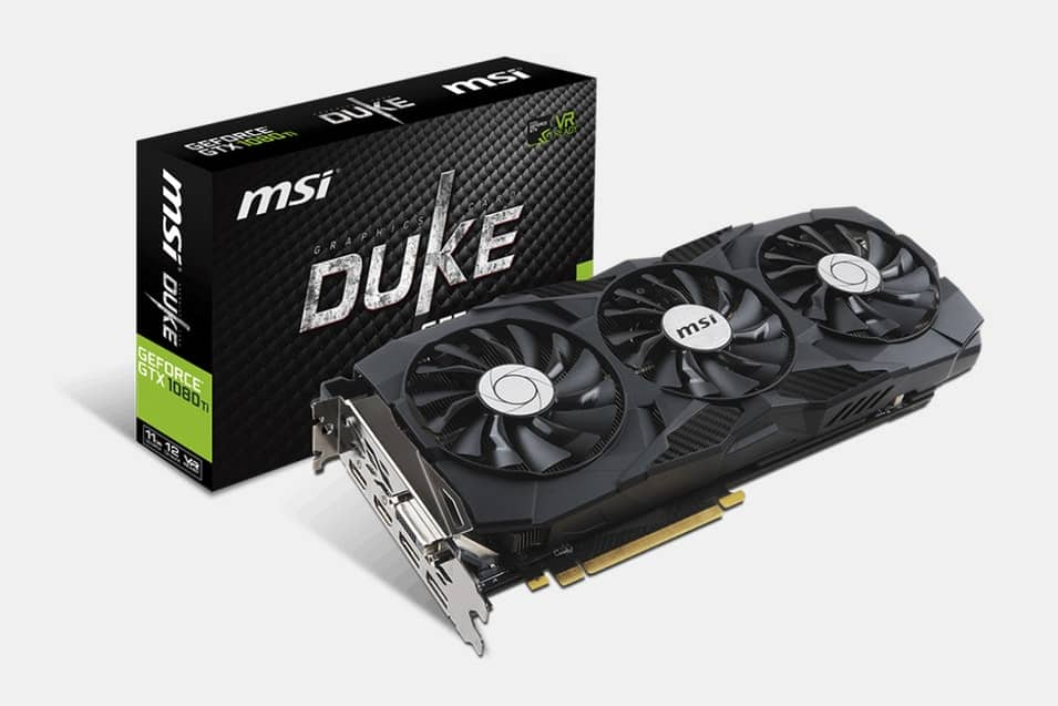 MSI GeForce GTX 1080 TI Duke 11G OC $679.99 - $10.00 Mail-in-Rebate