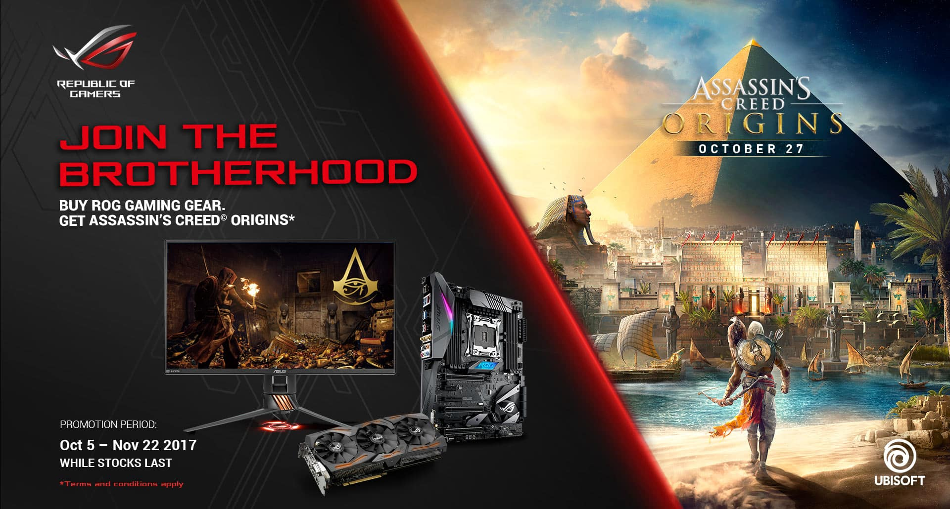 Assassin's Creed Origin free with ROG gear purchase