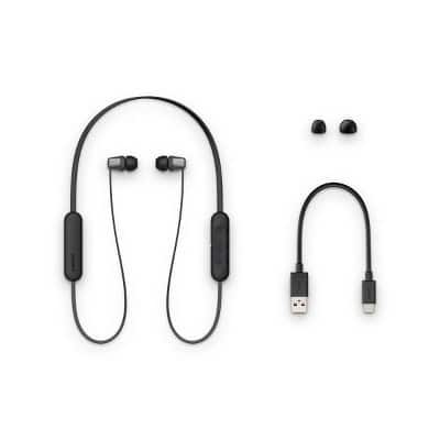 Sony Wireless In-Ear Headphones (WIC310)-Black/White $19.99