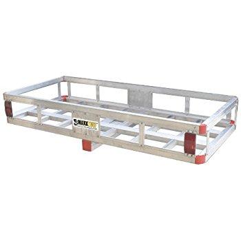 "MaxxHaul 70108 49"" x 22.5"" Hitch Mount Aluminum Cargo Carrier With High Side Rails @ $79.99"