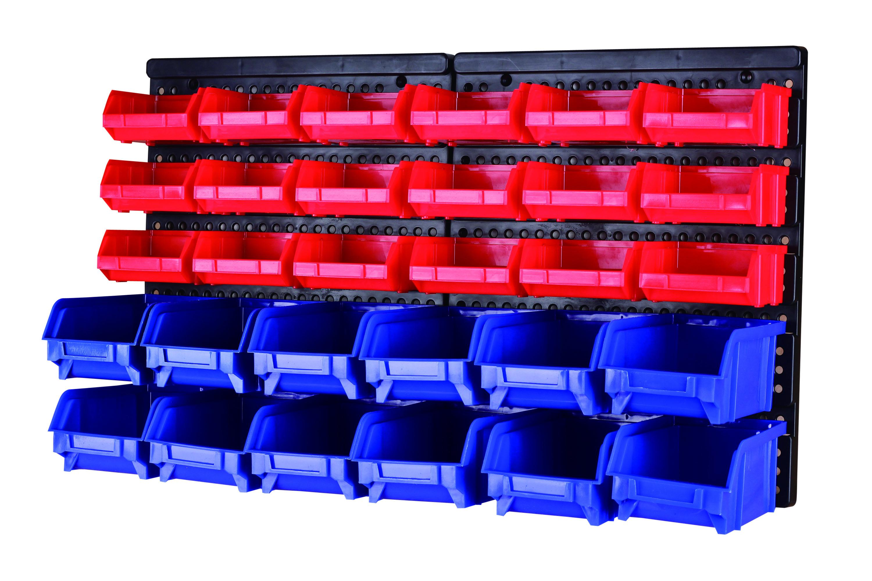 MaxWorks 80694 30-Bin Wall Mount Parts Rack/Storage @$15.32