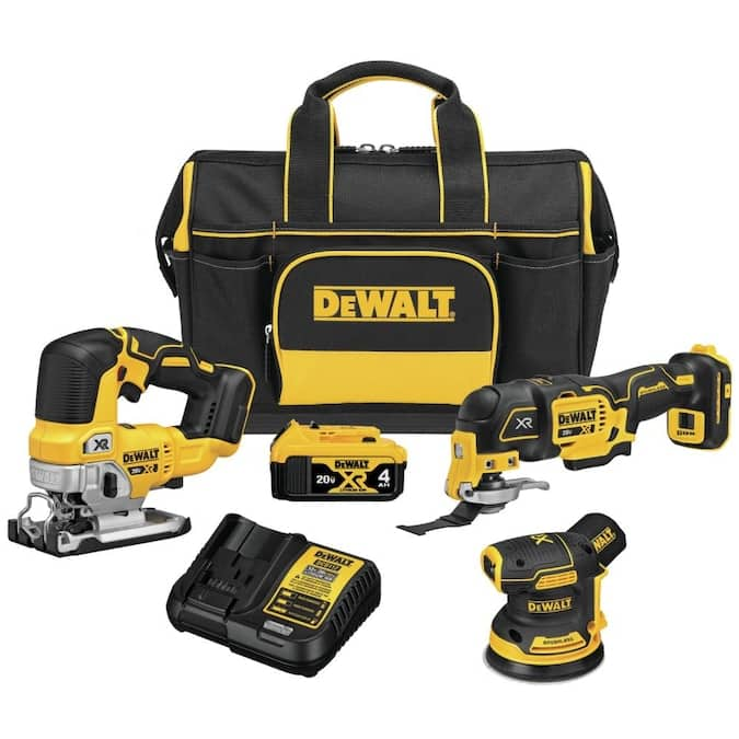 DEWALT XR 3-Tool 20-Volt Max Brushless Power Tool Combo Kit with Soft Case (1-Battery and charger Included) $299