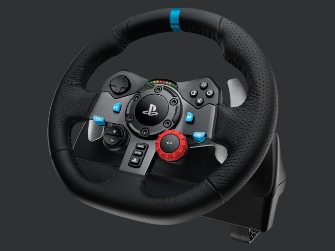 Logitech Dual-Motor Feedback Driving Force G29 Gaming Racing Wheel with Responsive Pedals for PlayStation 4 and PlayStation 3 [Wheel/Pedals Only, PC + PS4 Compatible] In Stock $299