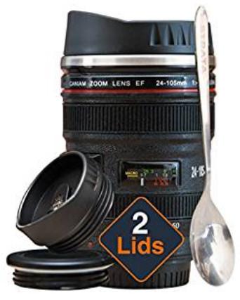 66% OFF Coffee Mug - Camera Lens Coffee Mug -13.5oz $9.56