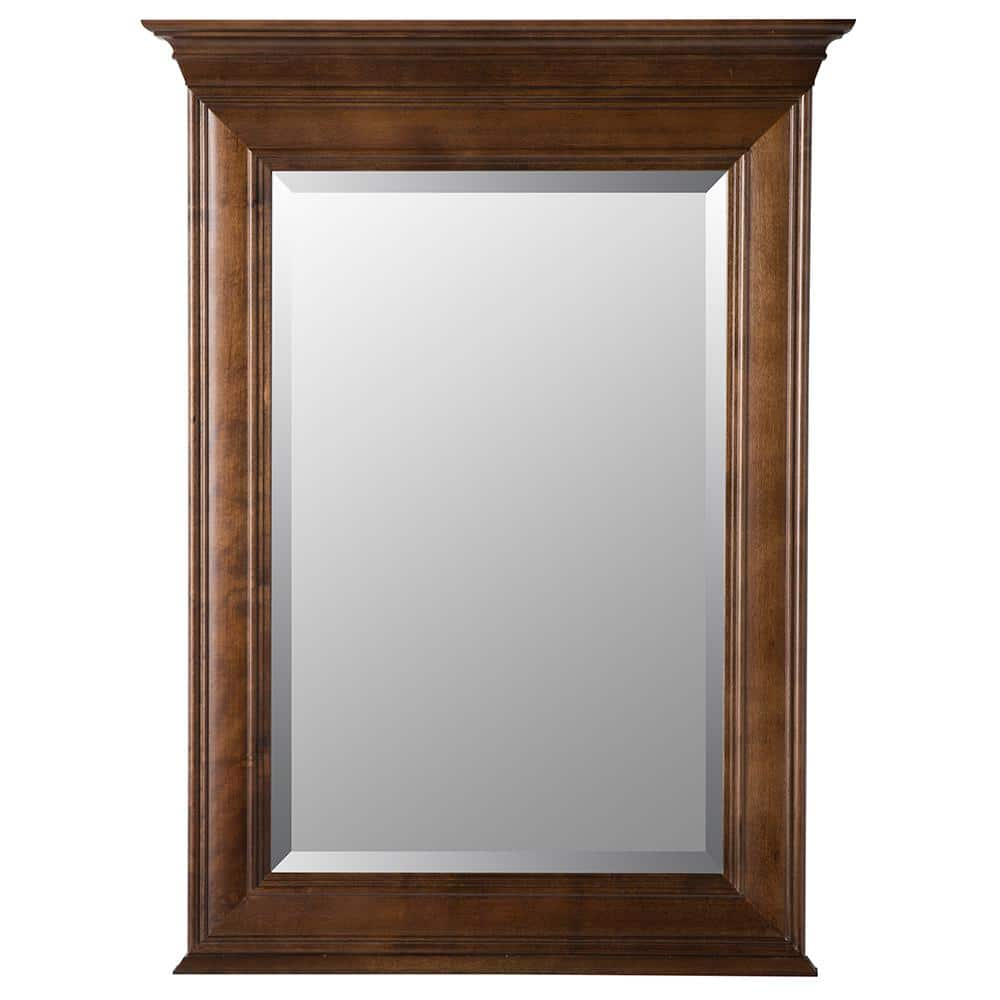 Home Decorators Collection Templin 30 in. x 34 in. Framed Wall Mirror in Coffee (Home Depot YMMV) $38.03