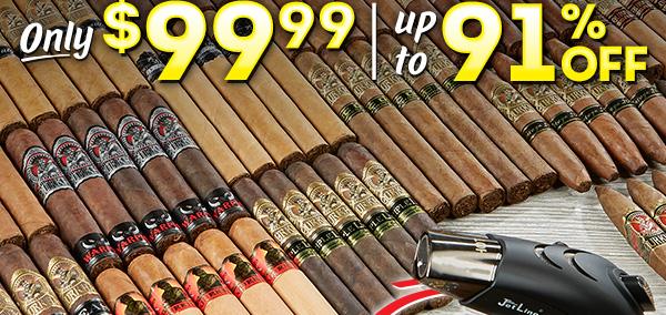 35 Gurkha cigars of your choice + table-top Jetline lighter $99.99