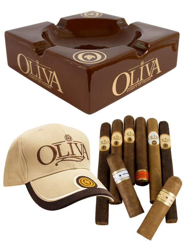 Oliva Ceramic Ashtray + 16 Cigars + Cap + Free Shipping $39.99 (Out of Stock now)