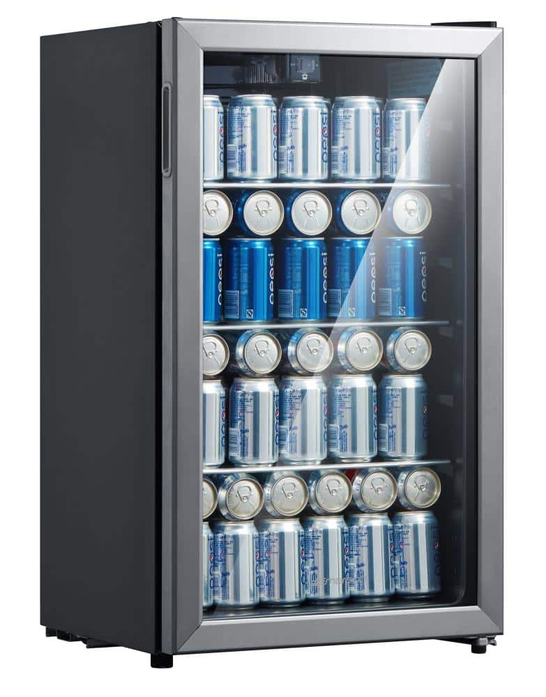 Emerson 115 can/34 wine bottle beverage refrigerator with temperature control - $149.99