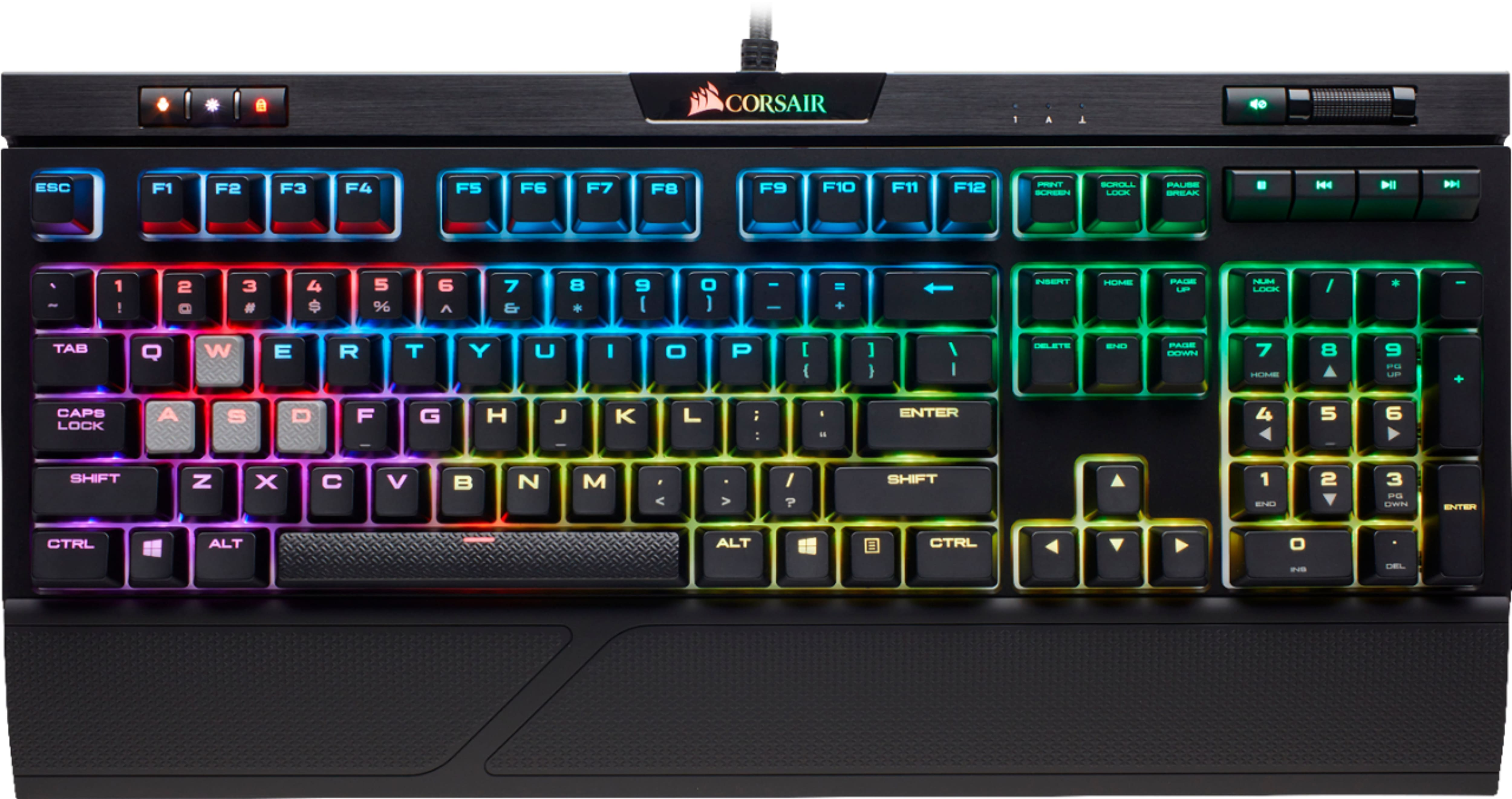 CORSAIR - Gaming STRAFE RGB MK.2 MX Silent Mechanical Wired CHERRY MX Silent RGB Switch Keyboard with RGB Back Lighting - Black $89.99