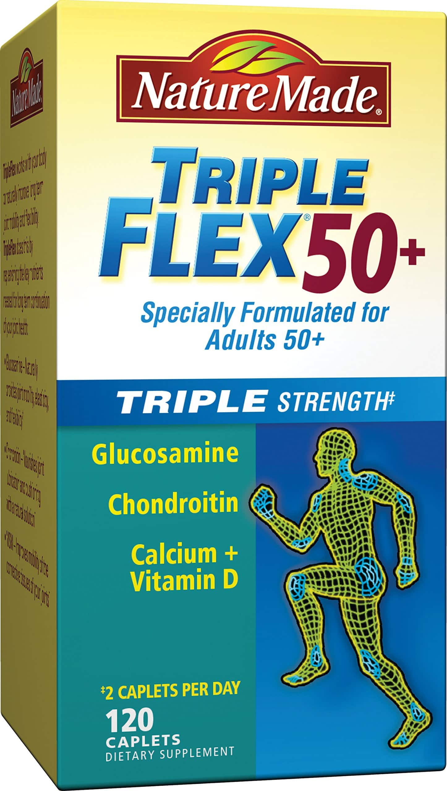 Nature Made Tripleflex Triple Strength with Vitamin D3, 120-Count $16.90 AC w/ S&S @ Amazon