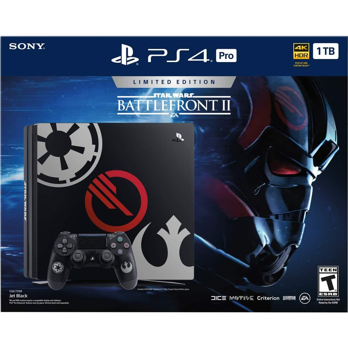 Sony PlayStation 4 Pro 1TB Star Wars: Battlefront 2 LE $379