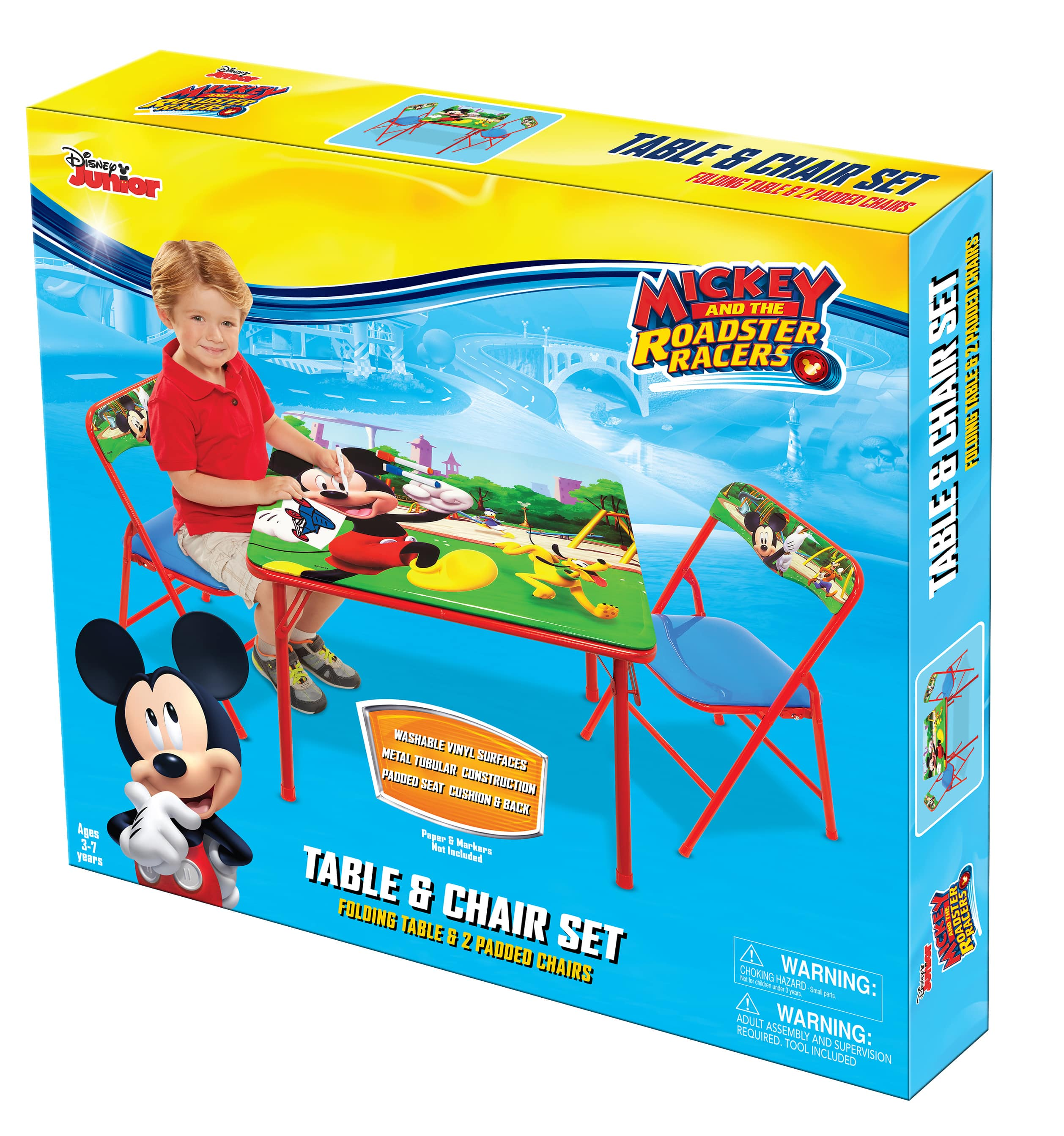 Various Character Kids Erasable Activity Table and Chairs Playset Walmart B&M YMMV for $7 (was $15)