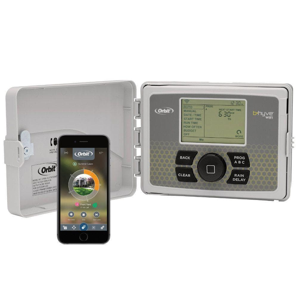 Orbit B-hyve 12-Zone Indoor/Outdoor Smart Sprinkler Controller at Home Depot for $79 or FAR
