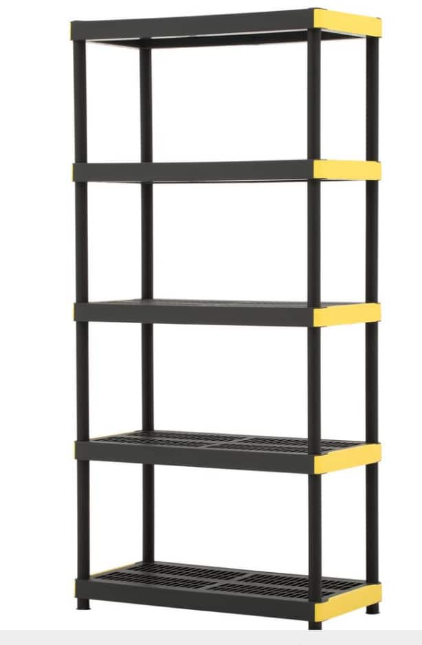 5 Tier Storage Shelf HDX  @ Home Depot B&M $27