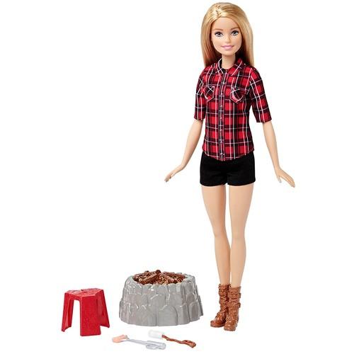 Barbie Camping Fun Doll, Brunette $10.41