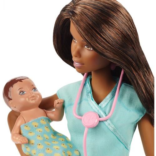 Barbie Careers African American Baby Doctor Doll & Playset $14.88