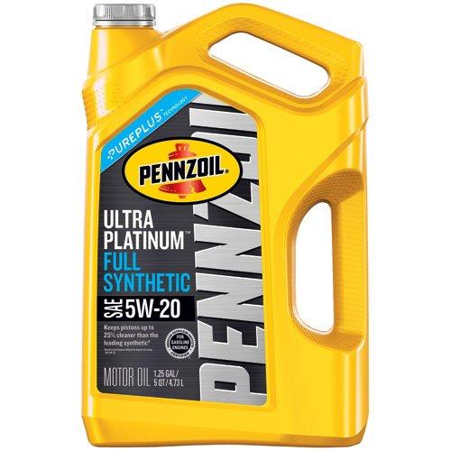 Pennzoil 550045202 Ultra Platinum 5 quart 5W-20 Full Synthetic Motor Oil (SN/GF-5 jug) $9.98 after rebate