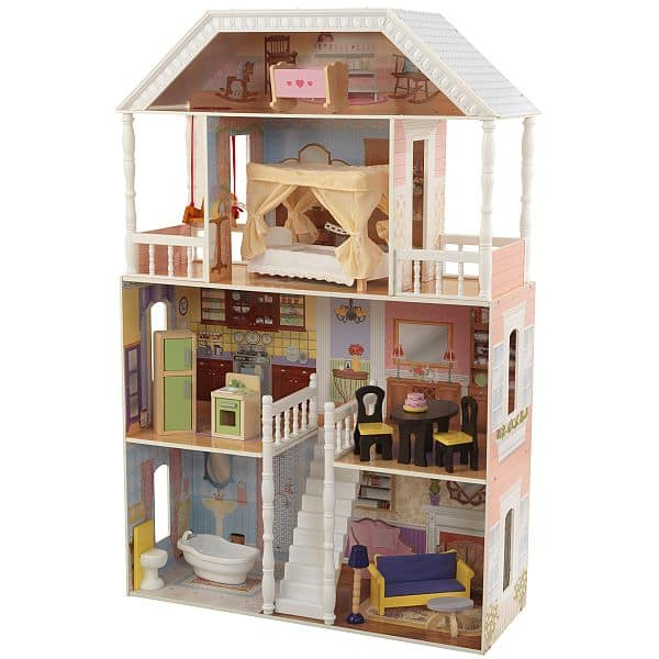 KidKraft Savannah Dollhouse with Furniture $49.97
